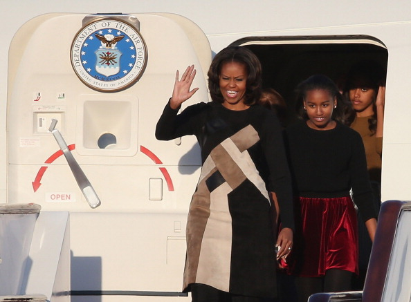 First Lady Michelle Obama Travels to China - Day 1
