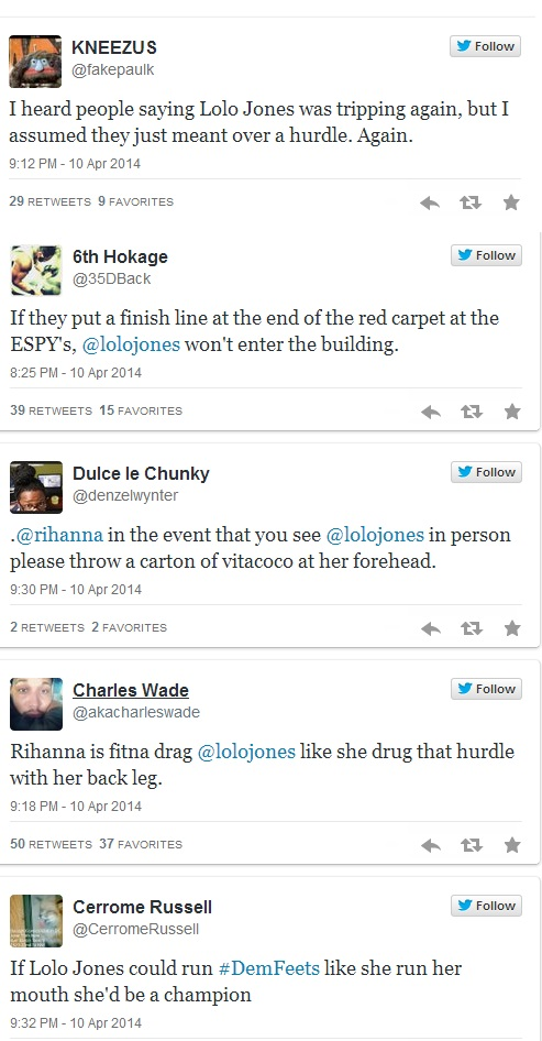 angry rihanna fans tweet lolo jones