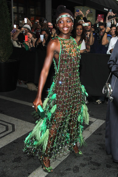 Lupita Nyong'ospotted on her way to the 2014 Met Gala