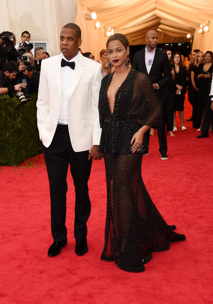 Beyonce and Jay-Z on the red carpet at the 2014 Met Gala