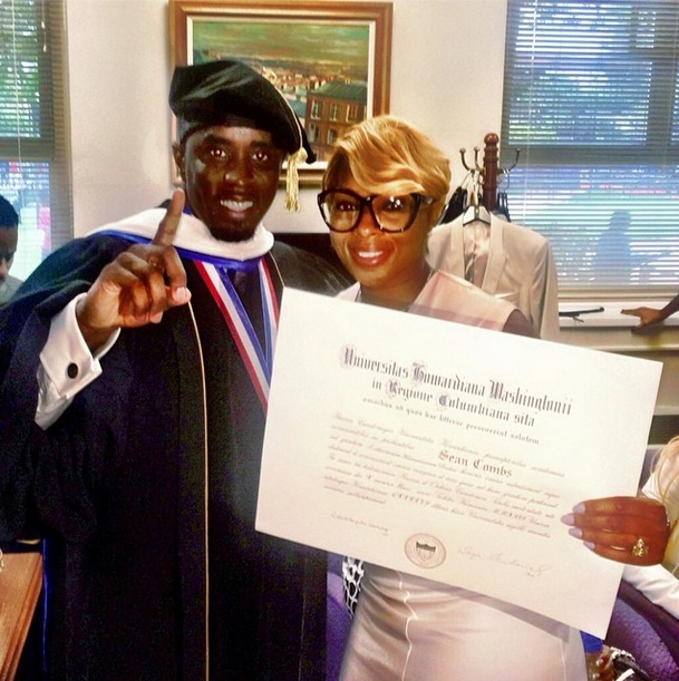 Diddy-Mary-J-Blige-Howard-Graduation