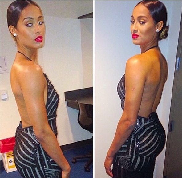 Drop-dead gorgeous Skylar Diggins in Michael Costello.