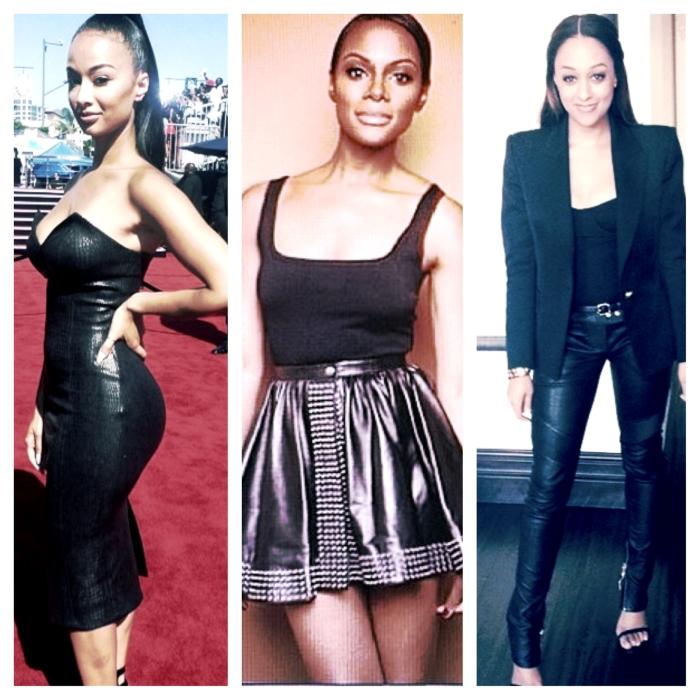 Draya, Tika, and Tia in leather.