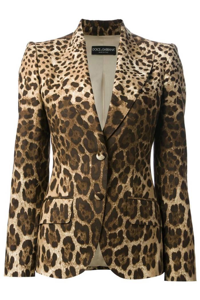 Dolce & Gabbana Leopard Blazer