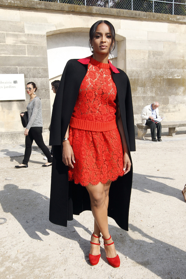 Ciara arrives at the Valentino show in Paris