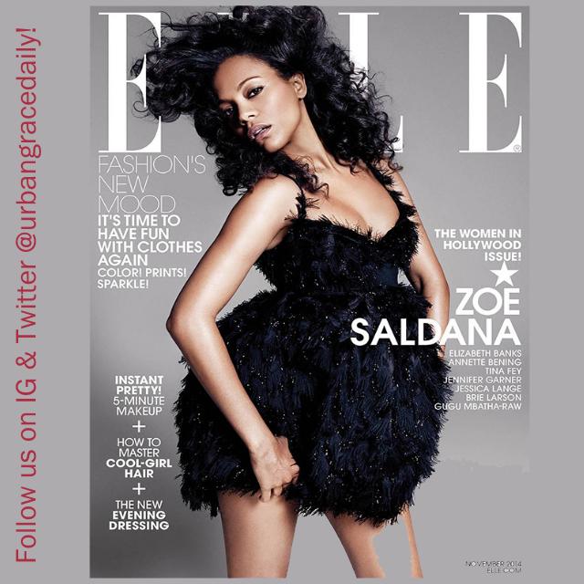 Zoe Saldana Elle Magazine November 2014