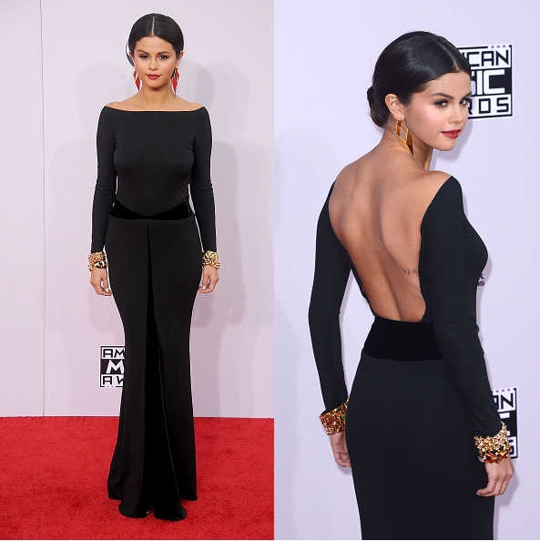 selena gomez amas dress