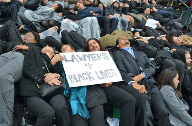 Urban grace magazine los angeles lawyers stage die in to support