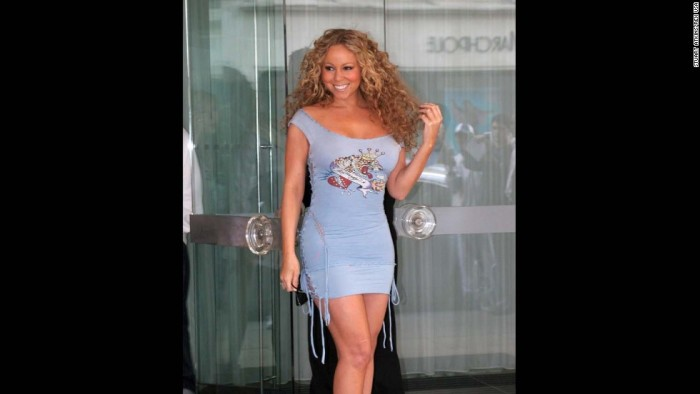 Mandatory Credit: Photo by Stuart Atkins / Rex USA (267669q) Mariah Carey leaving MARIAH CAREY, SANDERSON HOTEL, LONDON, BRITAIN - 04 JUL 2005