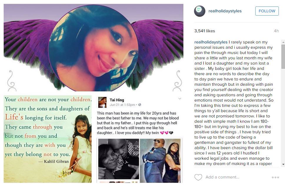 Styles P Mourns the loss of his daughter \u2013 URBAN GRACE