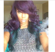 Black Women Hair Color Purple
