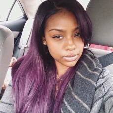 Black Women Hair Color Purple