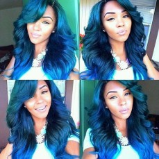 Hair Colors for Black women Blue